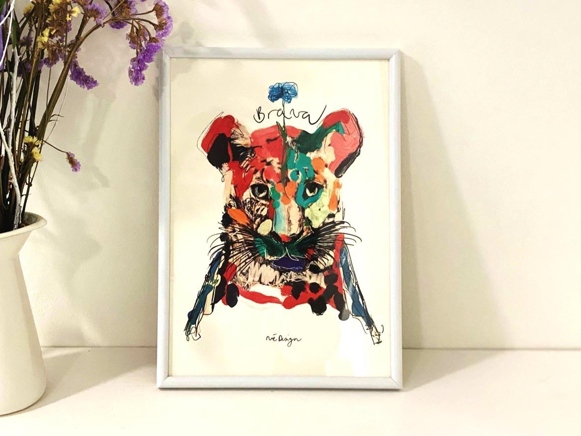 Lámina Decorativa Animales Soy Brava-002