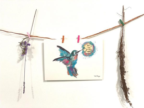 Lámina Decorativa Colibrís Ganas de volar-004