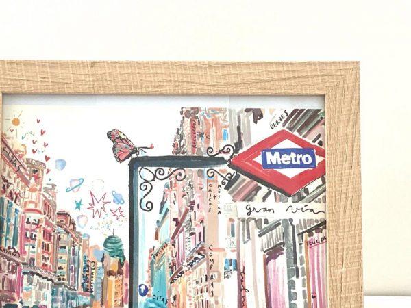 Lámina Decorativa Madrid Metro Gran Vía-004
