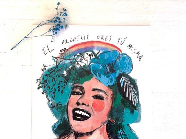 Lámina Decorativa Mujeres Arcoíris-004