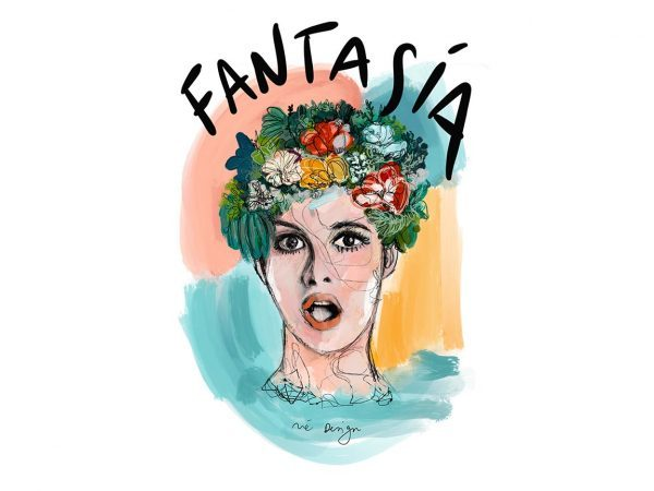 Lámina Decorativa Mujeres Fantasía-001