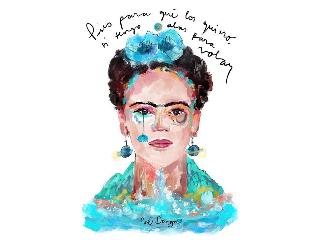 Lámina Decorativa Mujeres Frida Kahlo-001