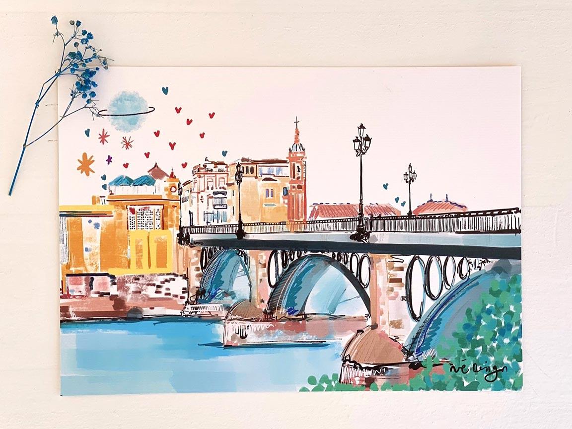 Lámina Decorativa Sevilla Puente de Triana-002