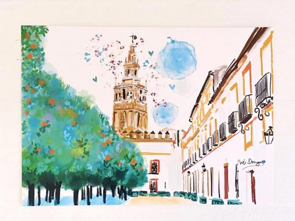 Lámina Decorativa Sevilla Patio de Banderas-002