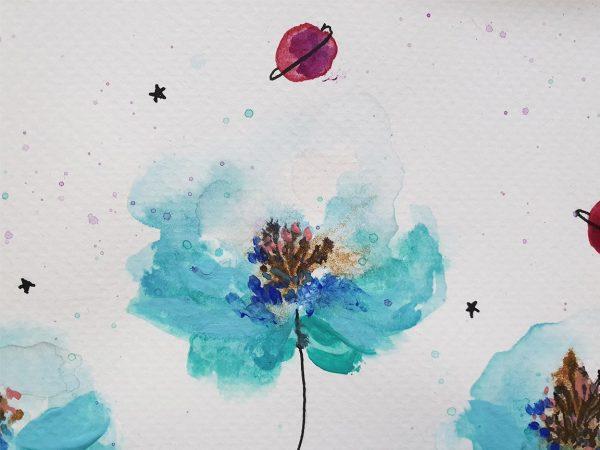 Edición Limitada Vé Design Flores de acuarela-004