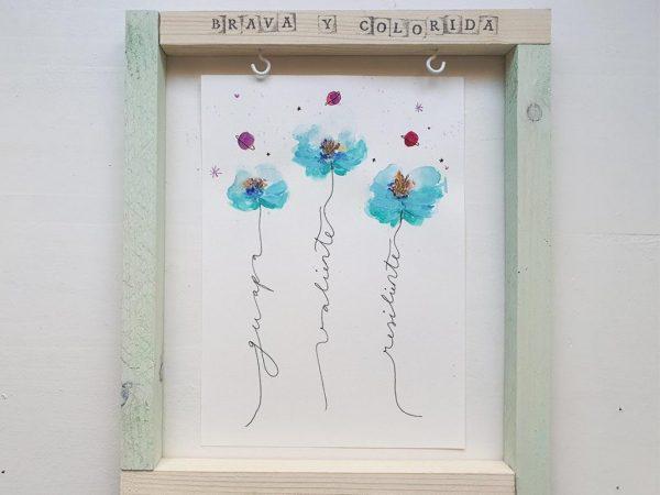 Edición Limitada Vé Design Flores de acuarela-003