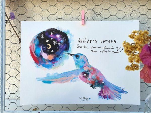 Lámina Decorativa Colibrís Quiérete entera-002