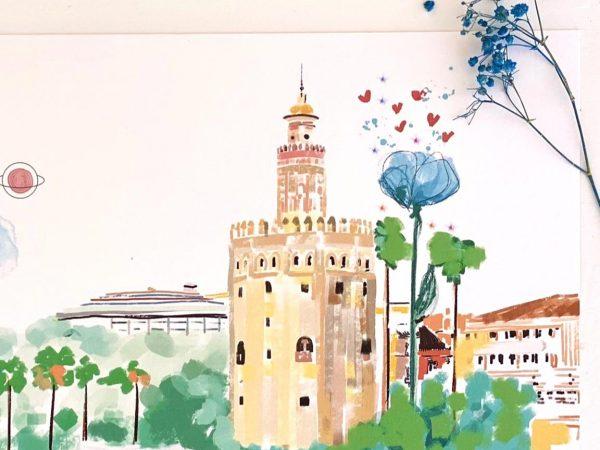 Lámina Decorativa Sevilla Torre del Oro-004