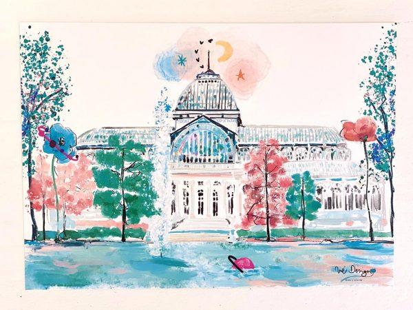 Lámina Decorativa Madrid Palacio de Cristal-002
