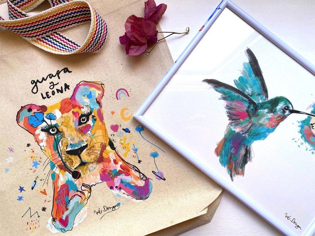 Pack Bolso + Lámina Guapa y Leona