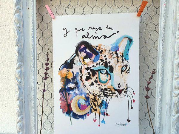Lámina Decorativa Animales Felina alma soy-002