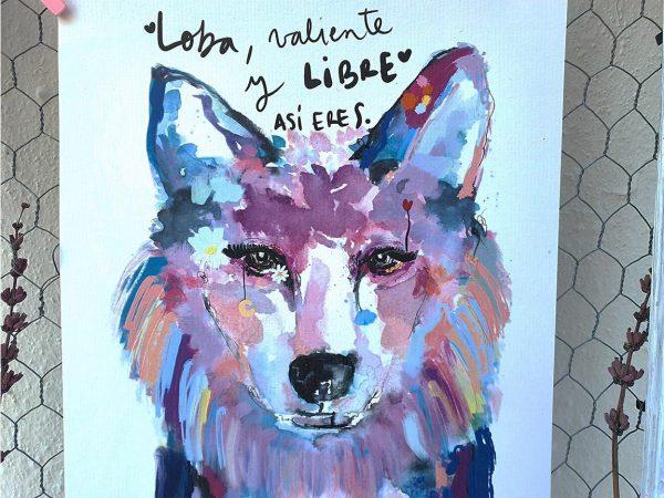 Lámina Decorativa Animales Loba Valiente-003