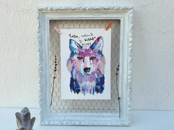lamina decorativa animales loba valiente 003