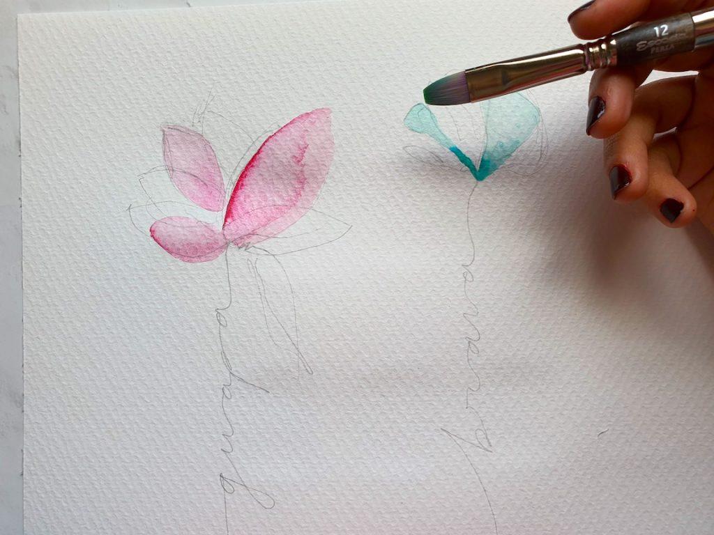 dibujos con acuarela fáciles 1