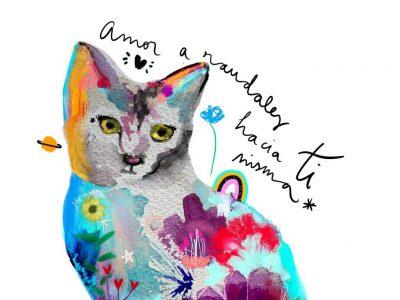 Lámina Decorativa Animales La Gata-002