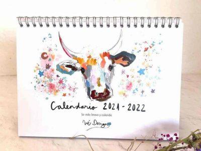 Calendario de mesa brava y colorida-001