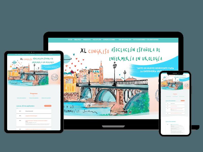 diseno web congreso Asociacion Espanola de Enfermeria en Urologia