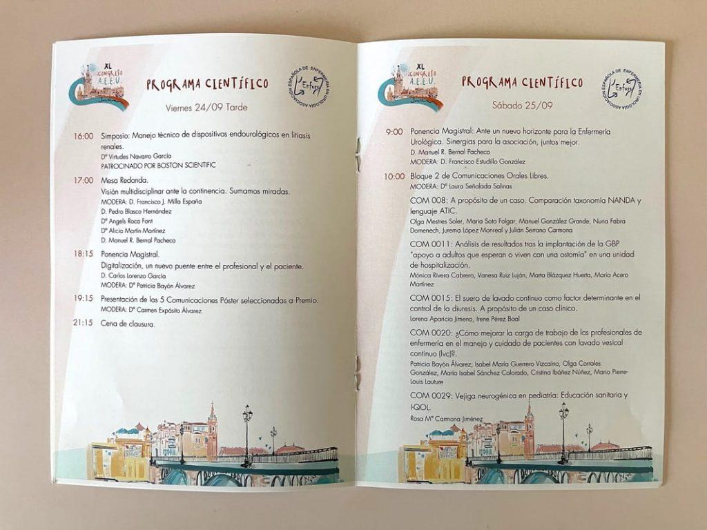 tote bags branding congreso Asociacion Espanola de Enfermeria en Urologia 2